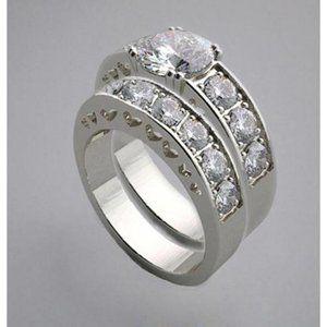 1.75 carat Round diamonds engagement ring band set